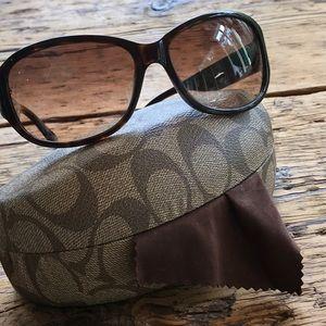 Tortoise framed sunglasses